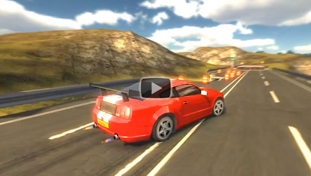 Highway rally racing game trailer video
